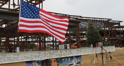 Topping Out Ceremony at Plymouth South HS